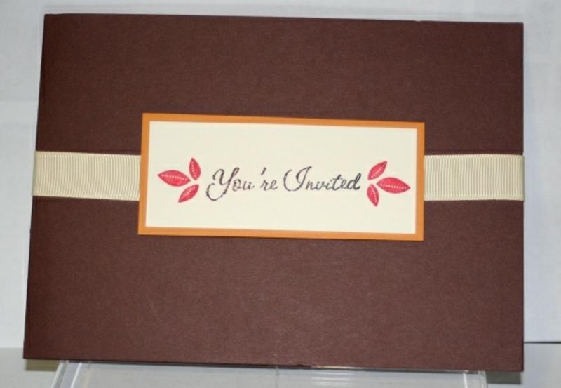herbstliche Hochzeitseinladungen Briefumschlag