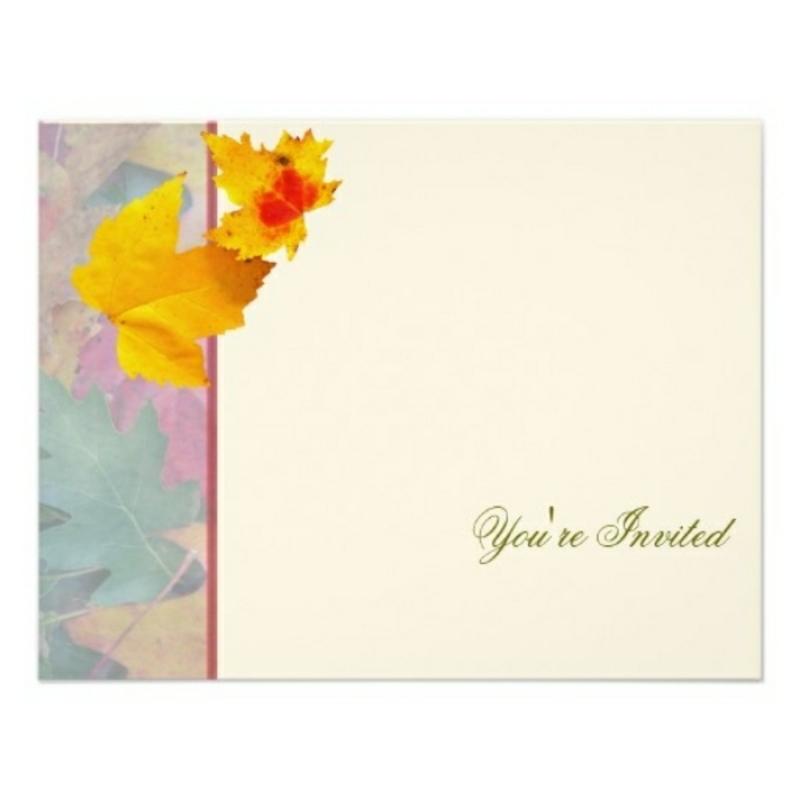 Hochzeit Einladungen gestalten mit Herbstmotiv