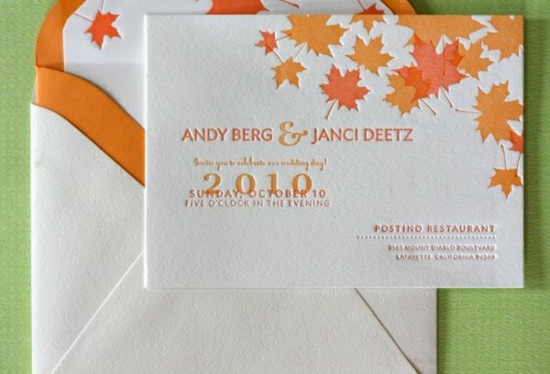 Hochzeit im Herbst Einladungskarten
