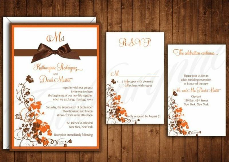 Hochzeit Einladungen gestalten und mit Schleifen dekorieren