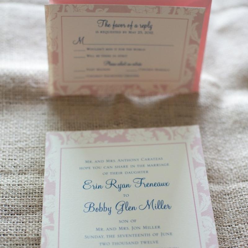 Einladungskarten simples Design