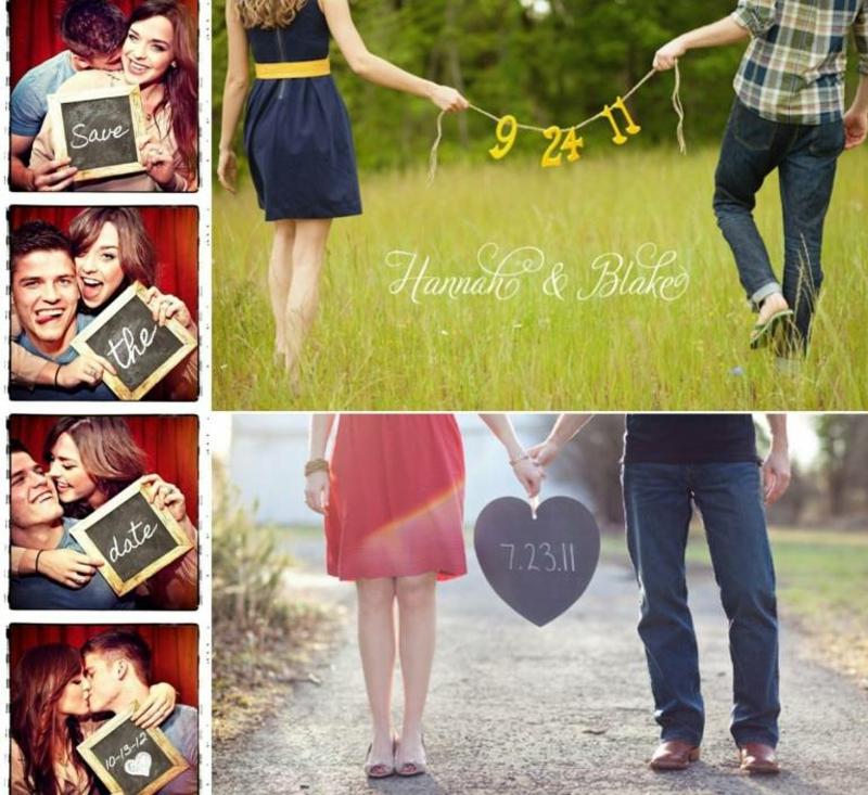 romantische Fotos professionell gemacht Hochzeitsdatum mitteilen