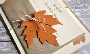 Hochzeit Einladungen gestalten Herbst
