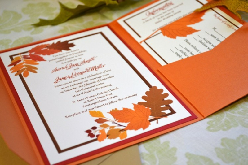 Einladungskarten Herbstmotive