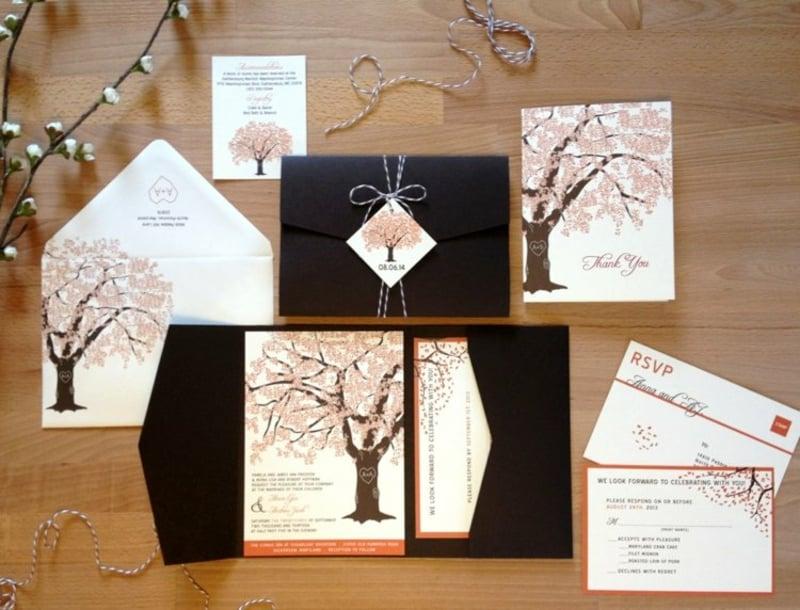 Einladungskarten Herbst