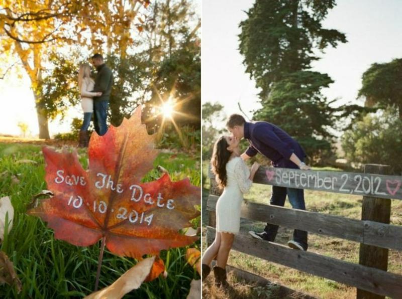 Hochzeit im Herbst Datum bekanntmachen