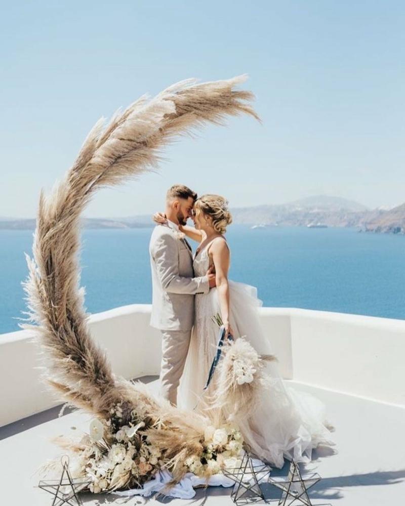 DEko mit Pampasgras Hochzeit