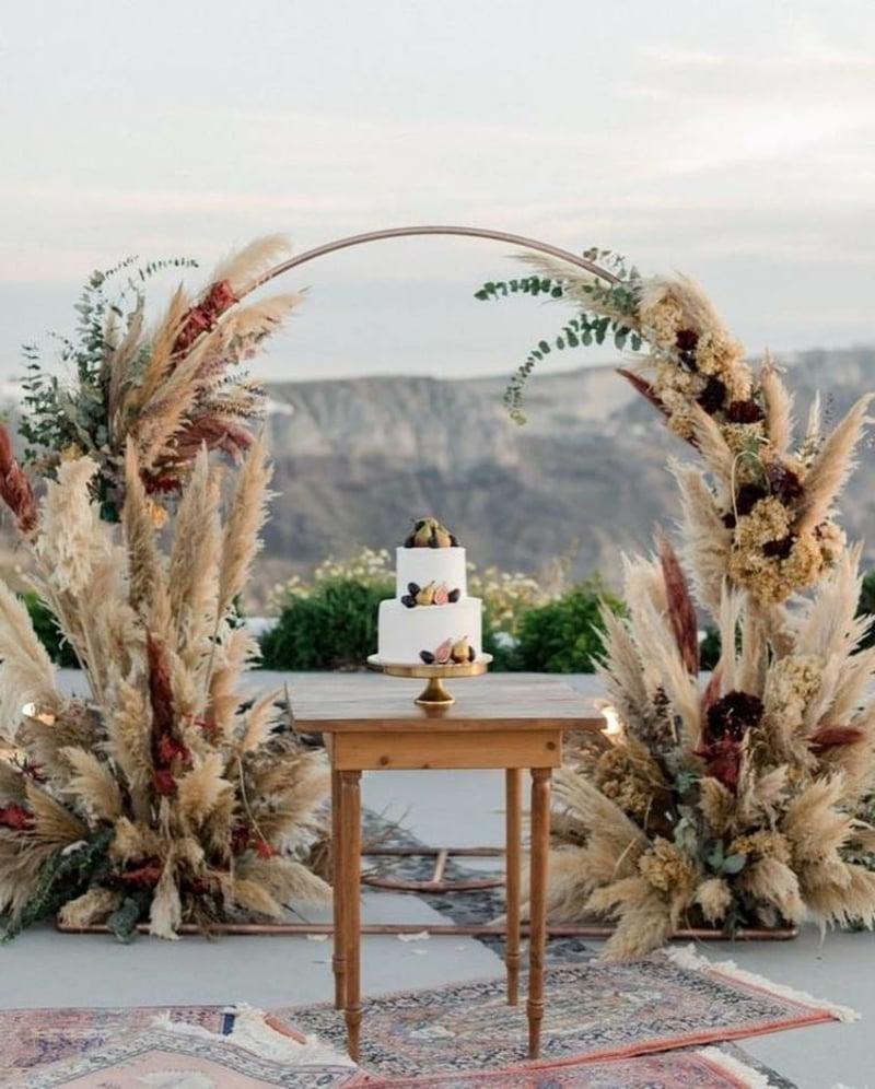 eindrucksvolle Naturdeko Hochzeit