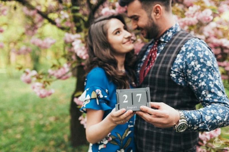 Brautpaar cooles Foto Datum Hochzeit