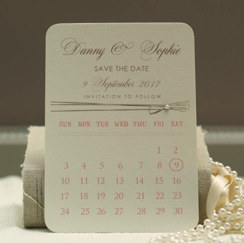 Kalender Hochzeitstermin bekanntmachen