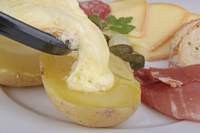 Raclette Zutaten Pellkartoffeln