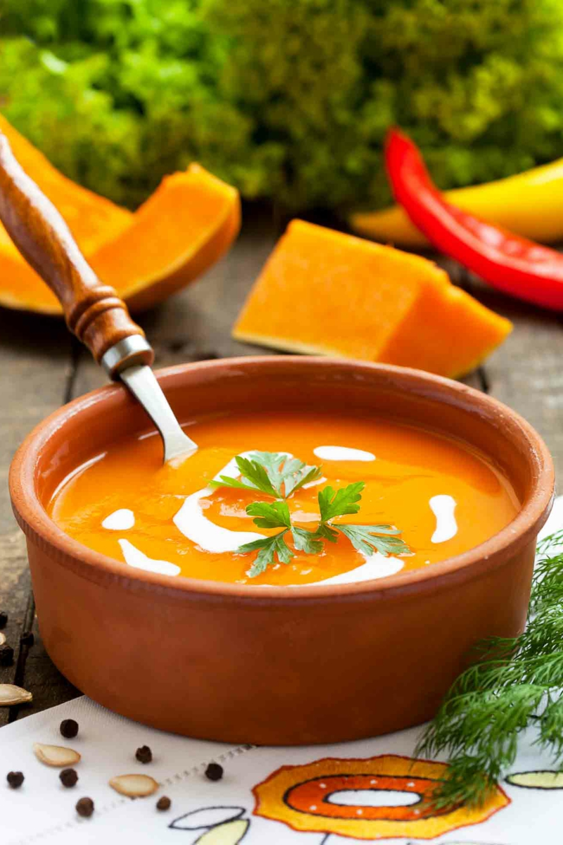 Suppe passieren aus Kürbis