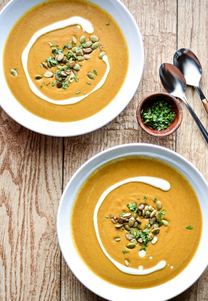 Suppen für den Herbst Kürbissuppe
