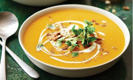 Suppe passieren Kürbis lecker gesund