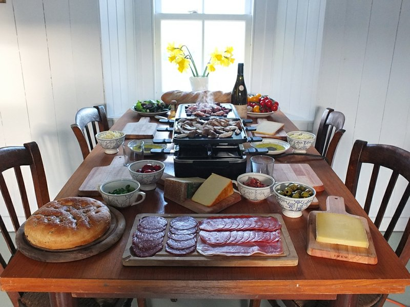 Raclette Zutaten Party organisieren
