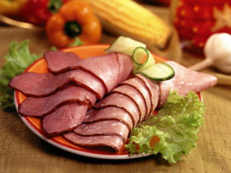 Raclette Zutaten Fleisch Salami