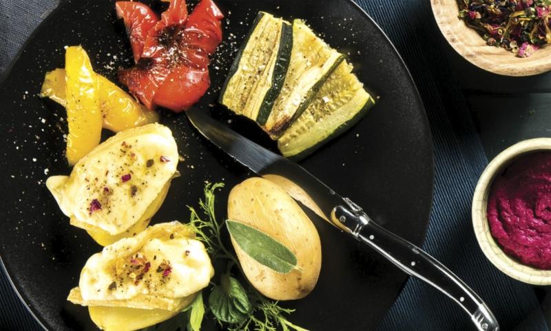 Raclette mit Gemüse zubereiten