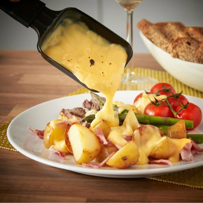 Raclette mit gekochten Kartoffeln super lecker