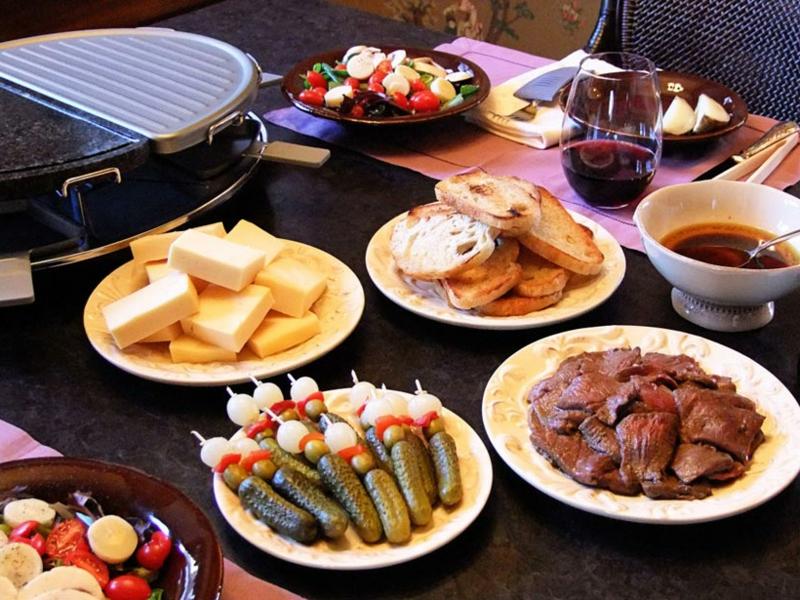 Raclette Zutaten für die Silvester Party