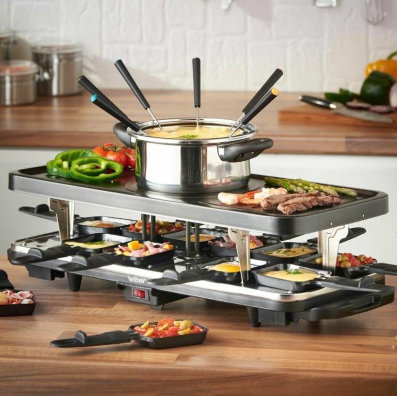 Raclette Zutaten leckere Ideen