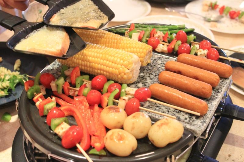 Gemüse und Fleisch Party