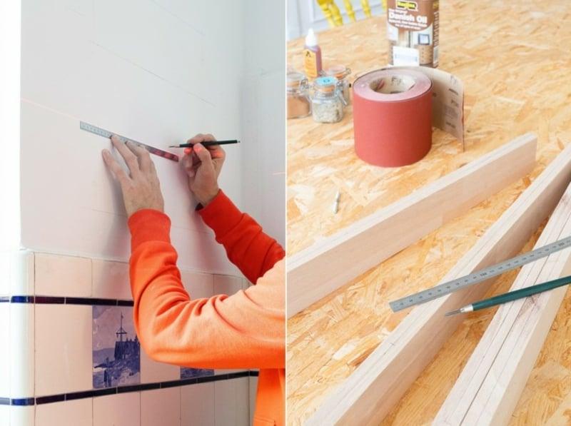 einfaches Dosen Regal bauen