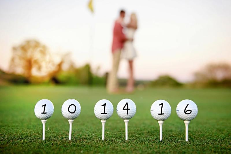 Golfbällchen Datum Hochzeit