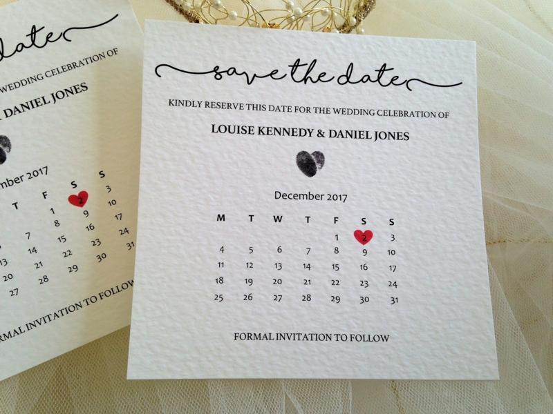Save the Date Karte Kalender