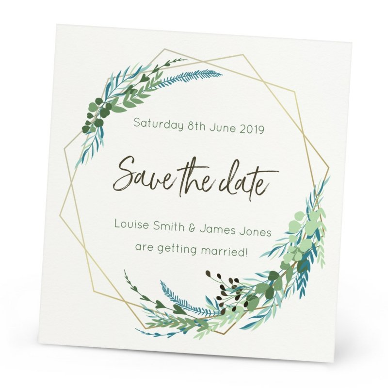 klassische Save the Date Karten stilvolles Design