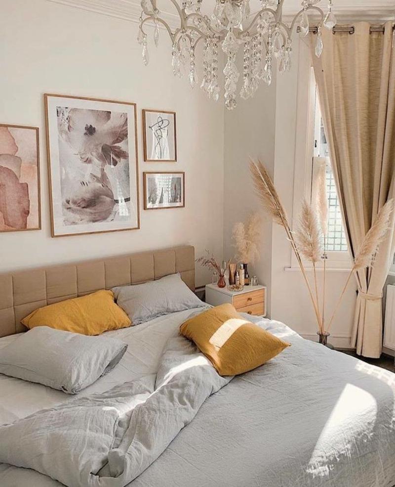 mit Ziergräsern dekorieren Schlafzimmer
