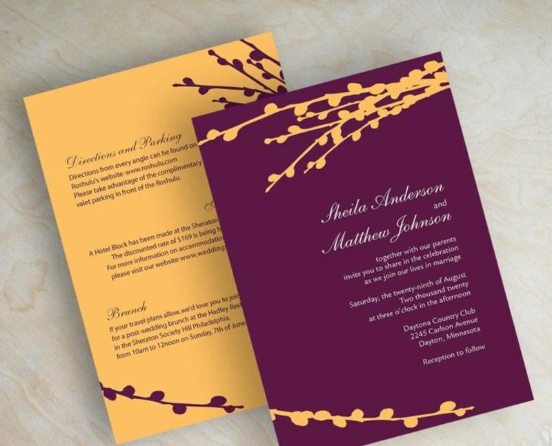Hochzeit Einladungen gestalten farbig