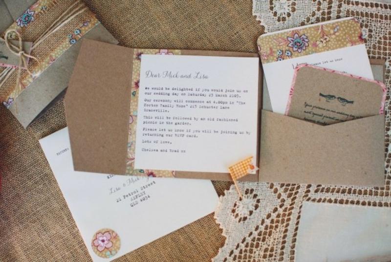 Hochzeit Einladungen gestalten in Vintage Stil