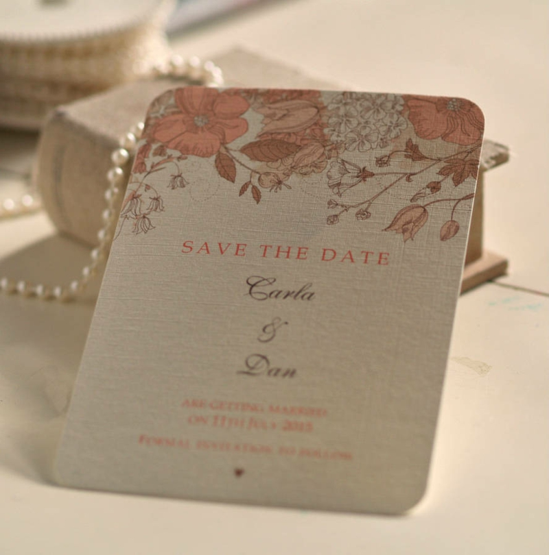 Save the Date Karte in Vintage Stil