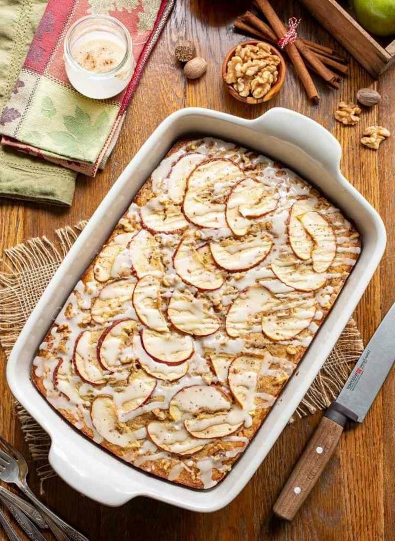 Apfelkuchen im Blech backen