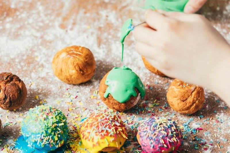 Zuckerguss bunt Lebensmittelfarbe
