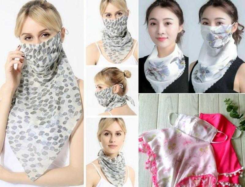 Gesichtsmaske Schal feminin