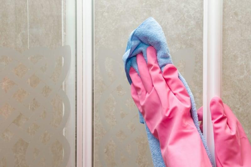 Duschkabine trocknen weiches Tuch