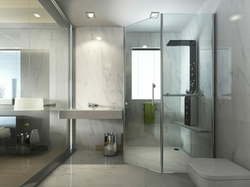 Duschkabine aus Glas moderner Look
