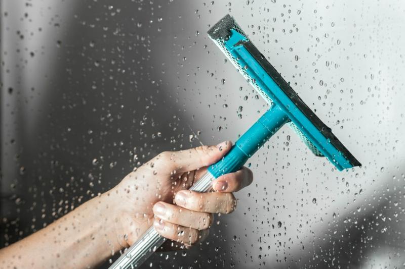 Duschenabziehen Wasser Duschkabine