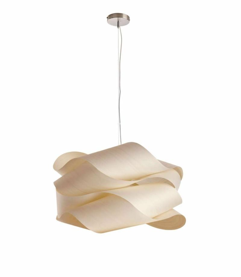 attraktiver Lampenschirm aus Furnierholz