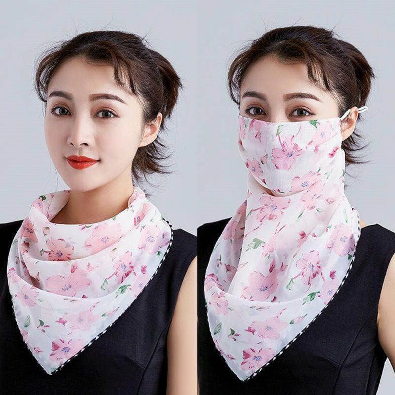 tolle Maske aus Seide mit Schal