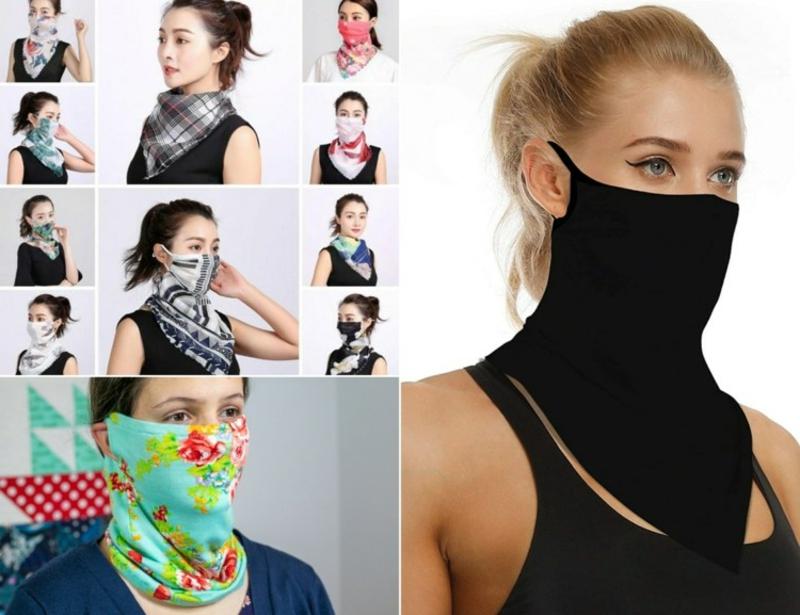 modische Masken Schal