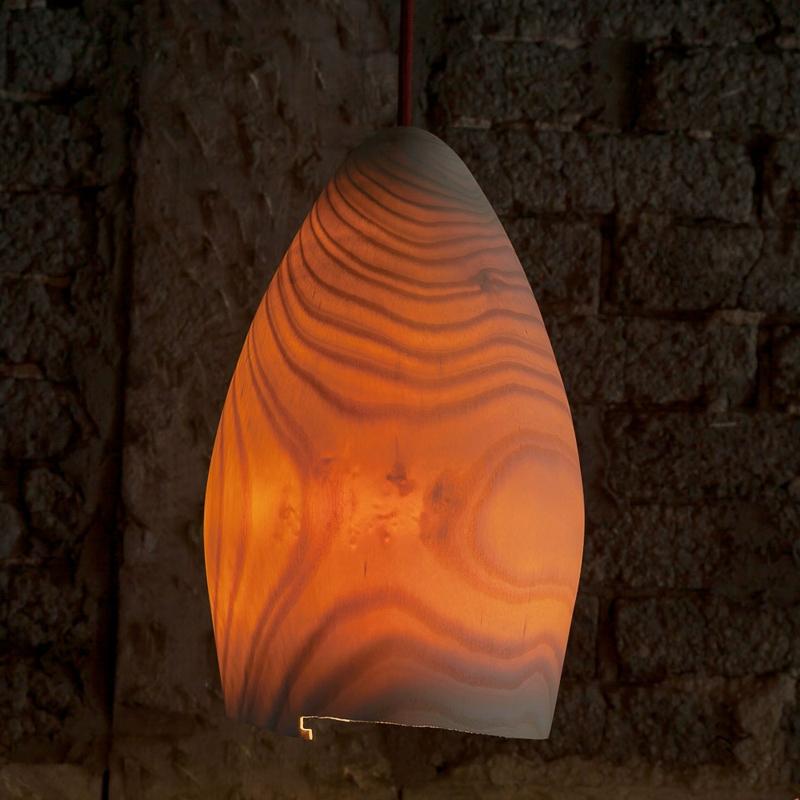 Furnierholz Lampenschirm Pendelleuchte