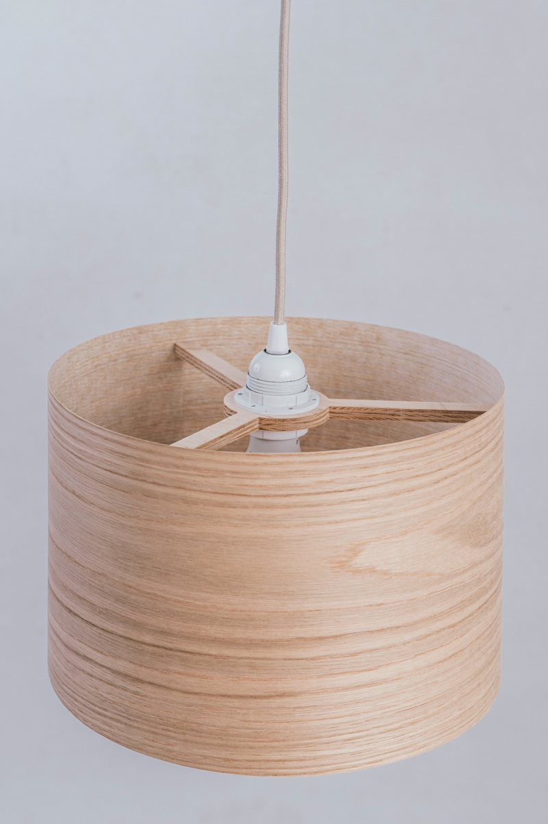 DIY Lampenschirm Furnierholz
