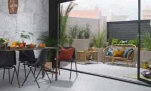 Gartengestaltung, die zu dem Innendesign passen
