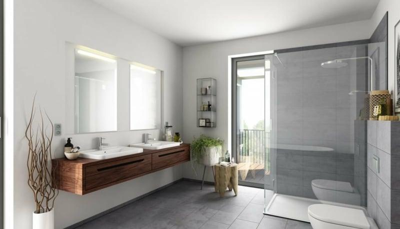 stilvolles Badezimmer minimalistisch