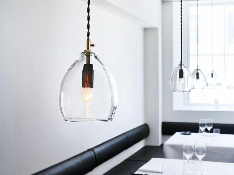 Lampenschirm Glas stilvolle Idee