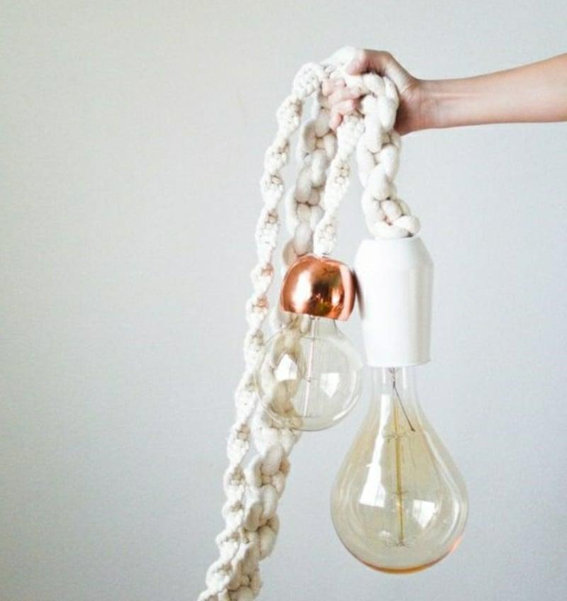 Hängelampen Seil tolle Idee