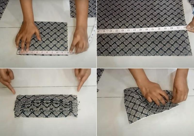 DIY Halstuch Maske Stoffe zuschneiden