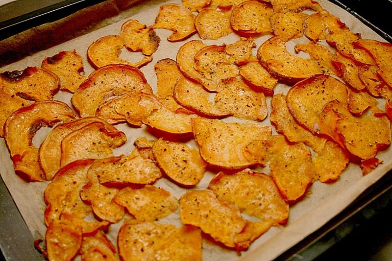Süßkartoffeln Scheiben backen